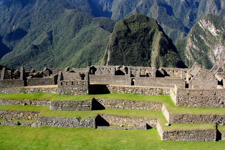 Stone detail of Machu Picchu, Peru