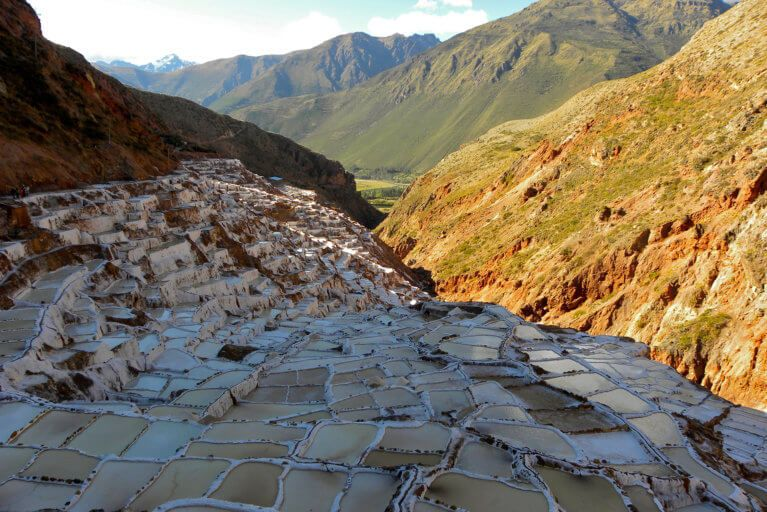 View of the Maras Salt Ponds during a luxury tour of Peru