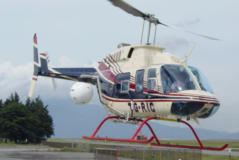 Luxury helicopter tour in Guatemala