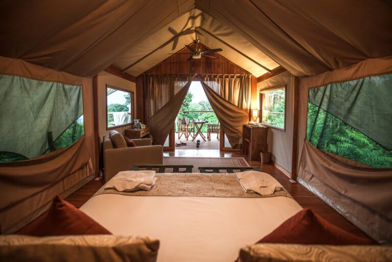 Luxury room at the Galapagos Safari Camp in Galapagos Islands during private ecuador trip