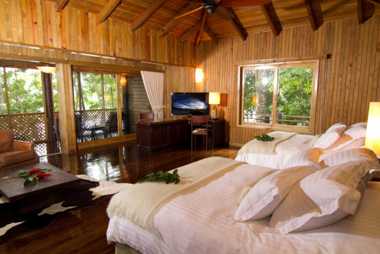Luxury room at Las Lagunas during luxury guatemala trip