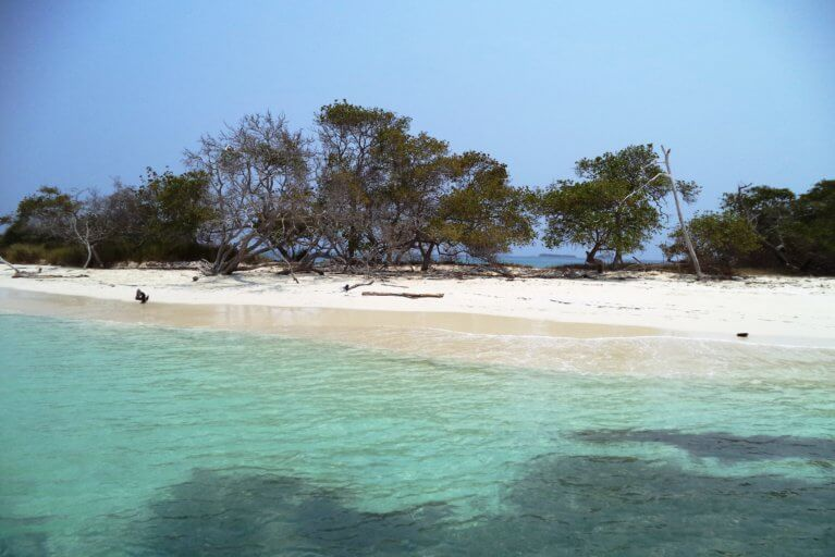 One of the tropical beaches of the Rosario Islands