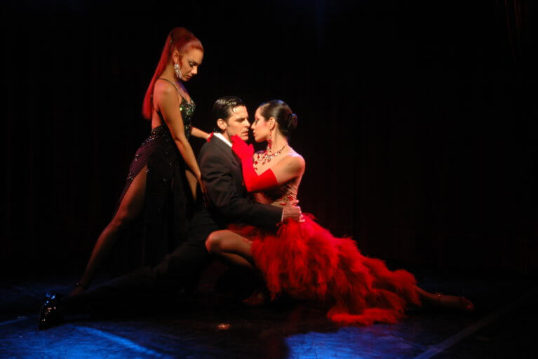 Close up of Rojo Tango show performers at Faena Hotel during a luxury Argentina tour