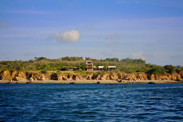 View of private villa facing the ocean in the Azuero Peninsula during an exclusive Panama tour