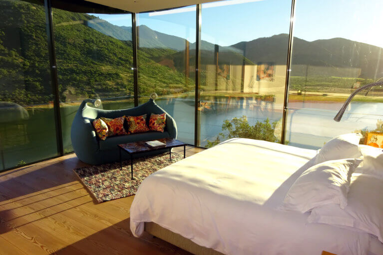 Luxury room with views at Vik Chile during a private chile tour