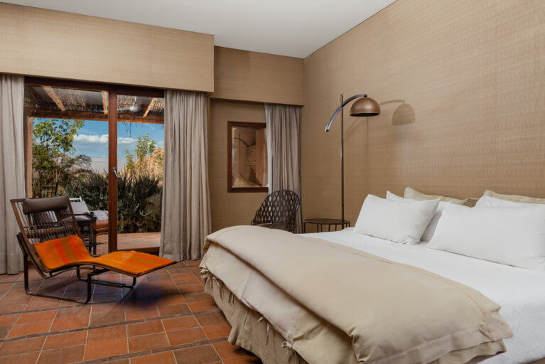 Luxury room at the Alto Atacama during a private Chile tour