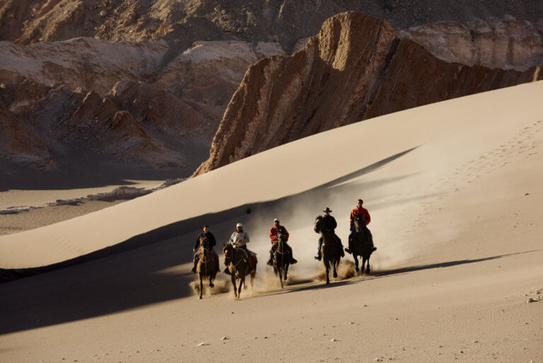 Horseback riding in the Atacama