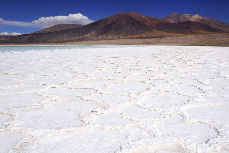 Salt flats in the Atacama during a luxury Chile tour