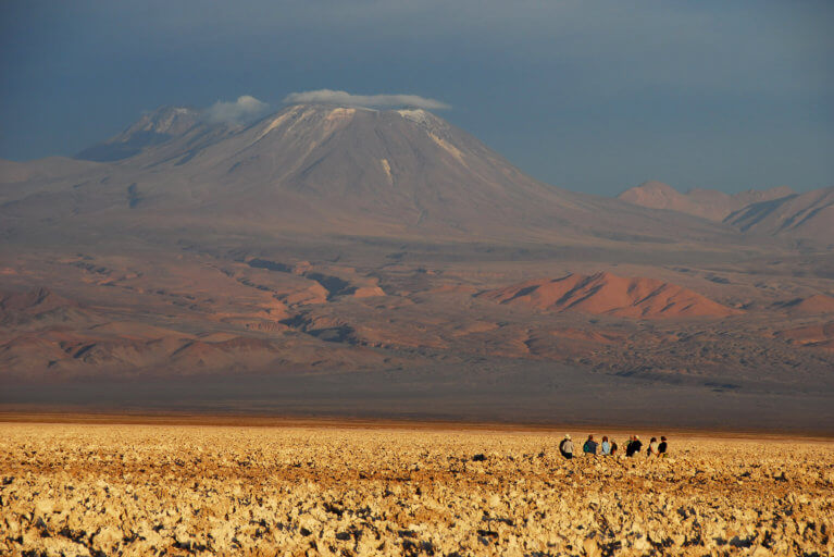 Small group enjoying Atacama Desert excursion on luxury Chile trip