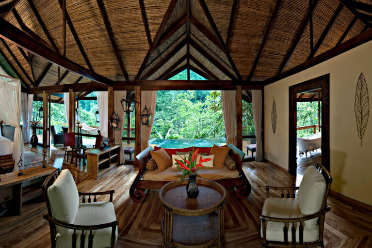 Suite at the Pacuare Lodge in Costa Rica during luxury costa rica tour