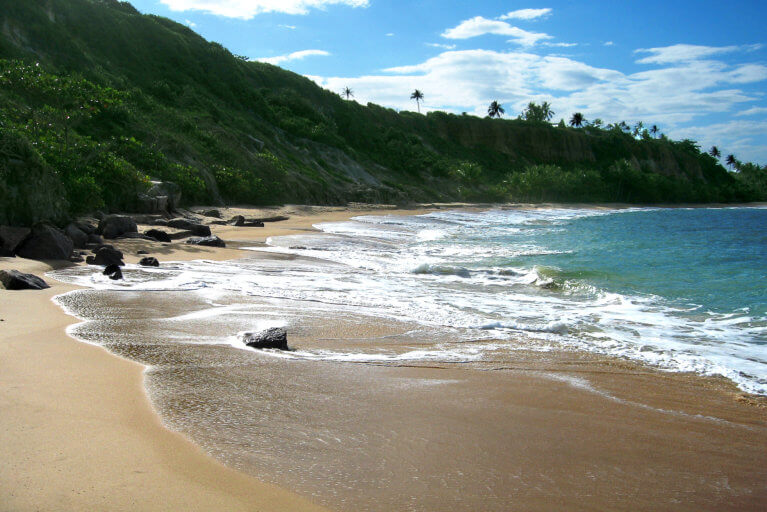 Deserted beach near Trancoso and Corumbau on a luxury Brazil trip
