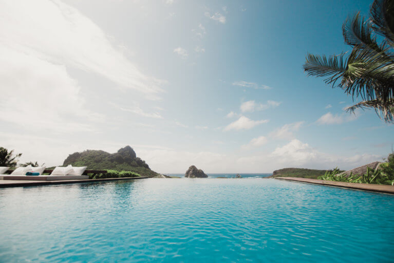 Infinity pool view at Pousada Maravilha in Fernando de Noronha