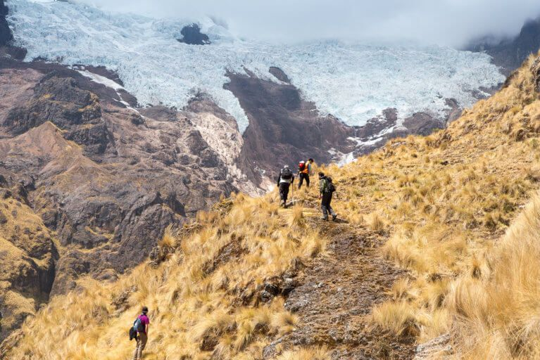 Hikers enjoying a private tour of Peru's Sacred Valley
