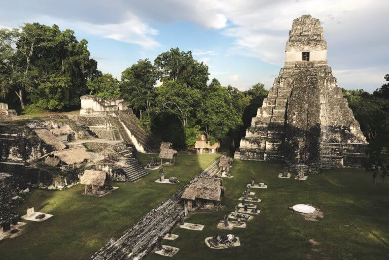 Luxury tour of temple at Tikal ruins, Guatemala