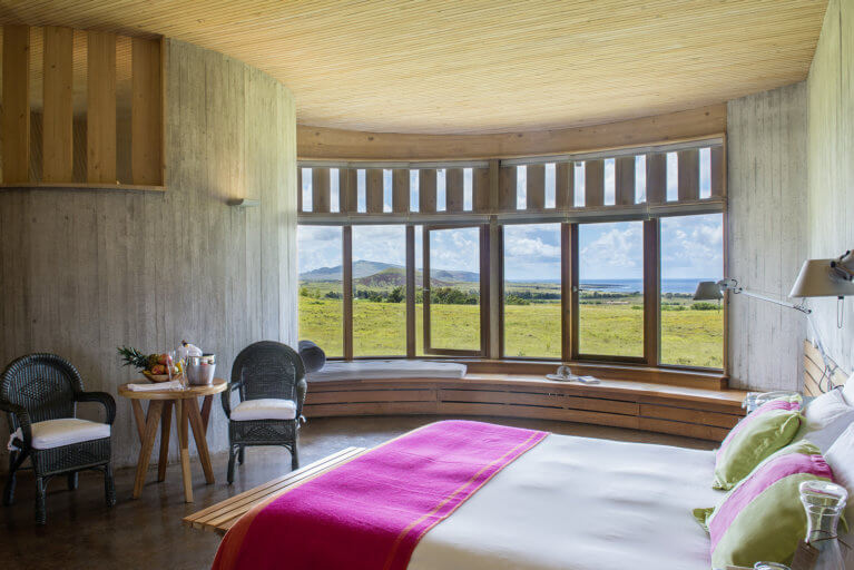 Room with an ocean view at the Explora during a luxury stay at Easter Island