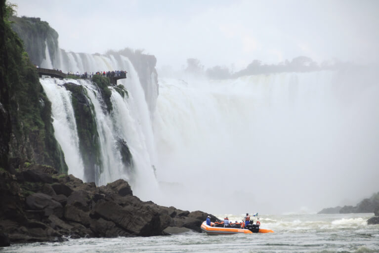 Private dinghy boat tour at Iguassu Falls on an exclusive Brazil tour