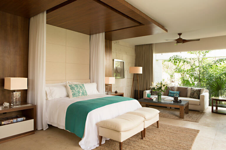 Luxury stay at King Villa Bedroom at Chable Resort in the Yucatan