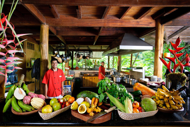 Tropical breakfast during a luxury stay in Costa Rica