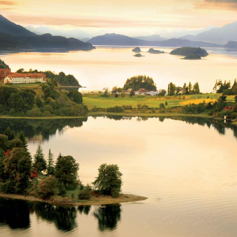 Lake District at sunset, during luxury Argentina tour