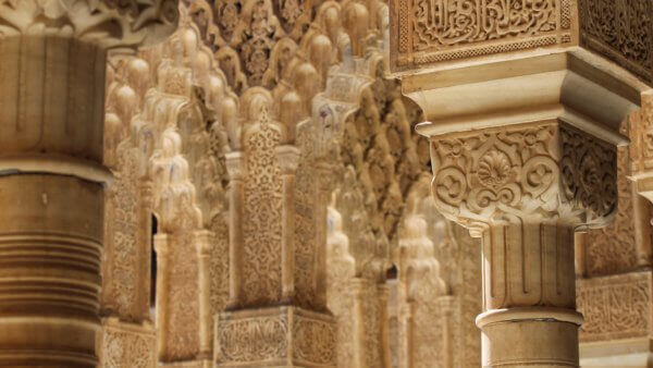 close up view of the alhambra during exclusive access tour on luxury spain trip