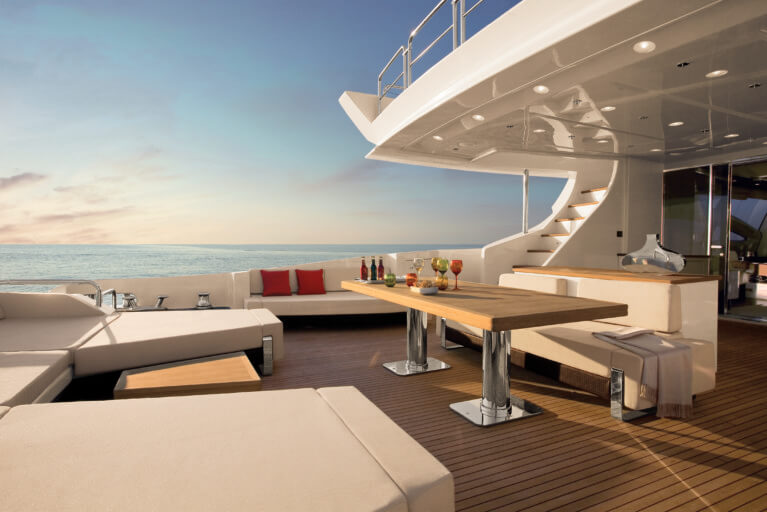 Luxury private yacht in Greece