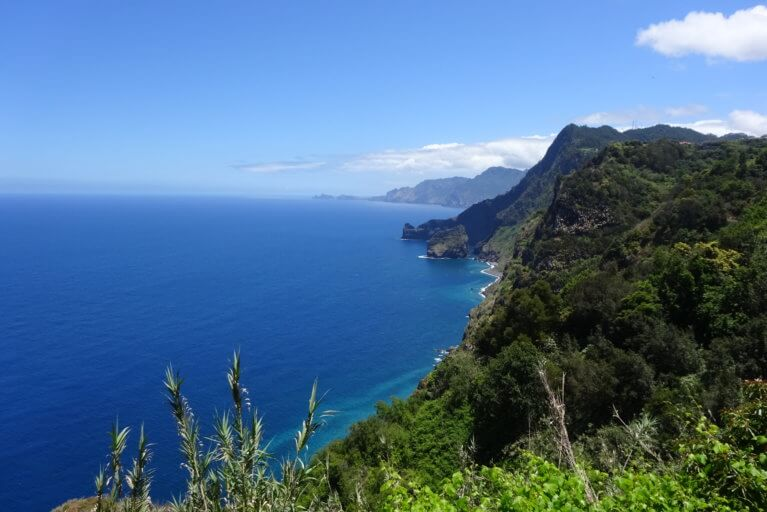 Madeira sea views on sunny day on a hike during private Portugal tour