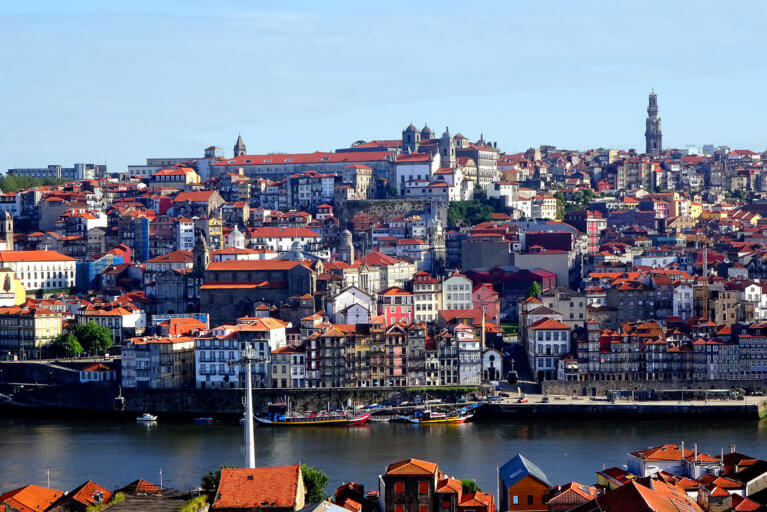 Views of Porto city and the river Douro on a private Portugal tour