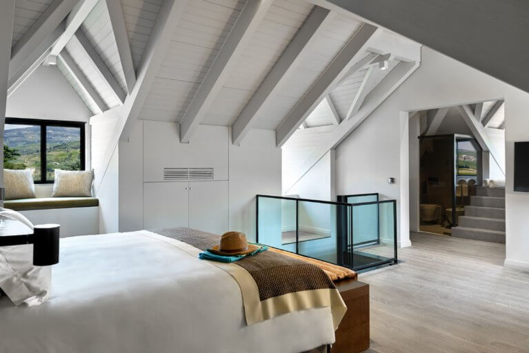 Luxury suite the Six Senses in the Douro Valley during a private Portugal tour