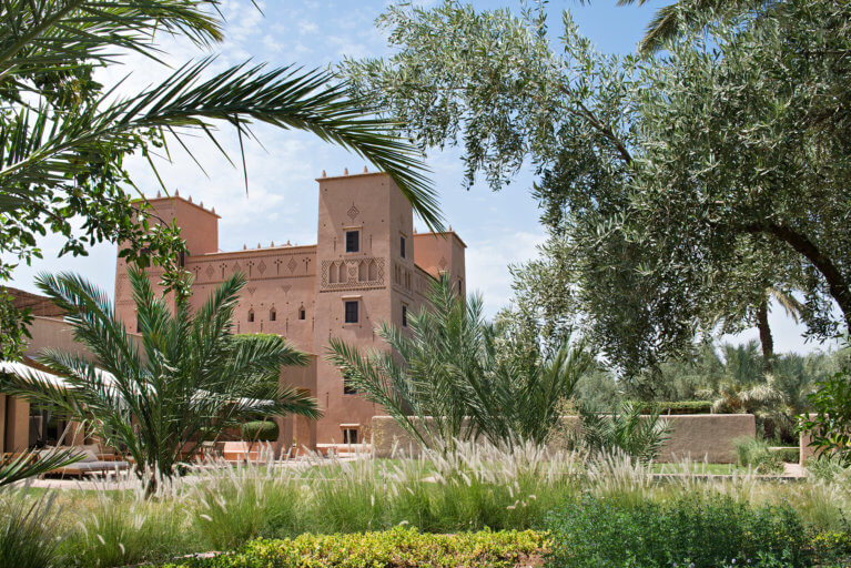 Dar Ahlam exterior during a luxury Morocco trip