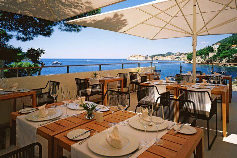 Lunch at the Villa Dubrovnik during luxury Croatia tour