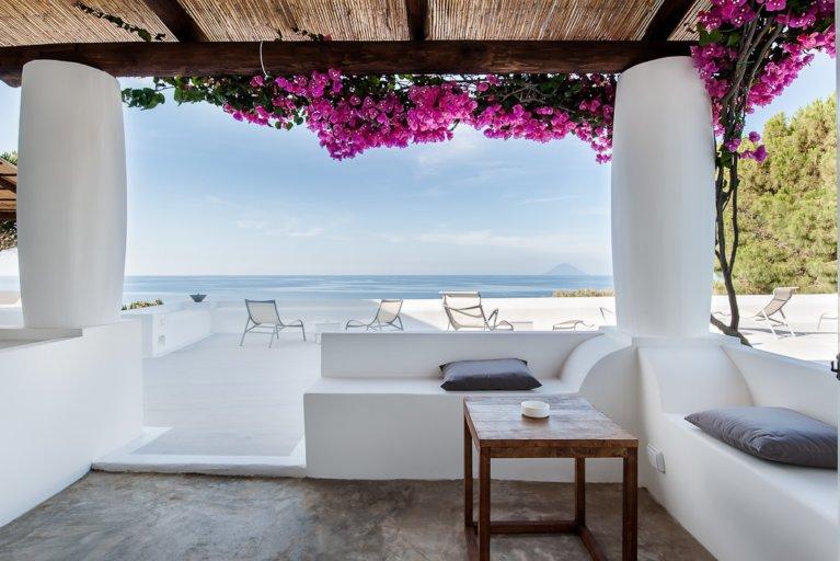 Private villa at Capofaro estate in Salina during luxury Sicily trip
