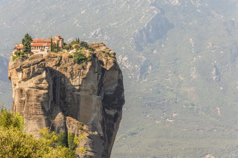 View of the Meteora during private Greece tour