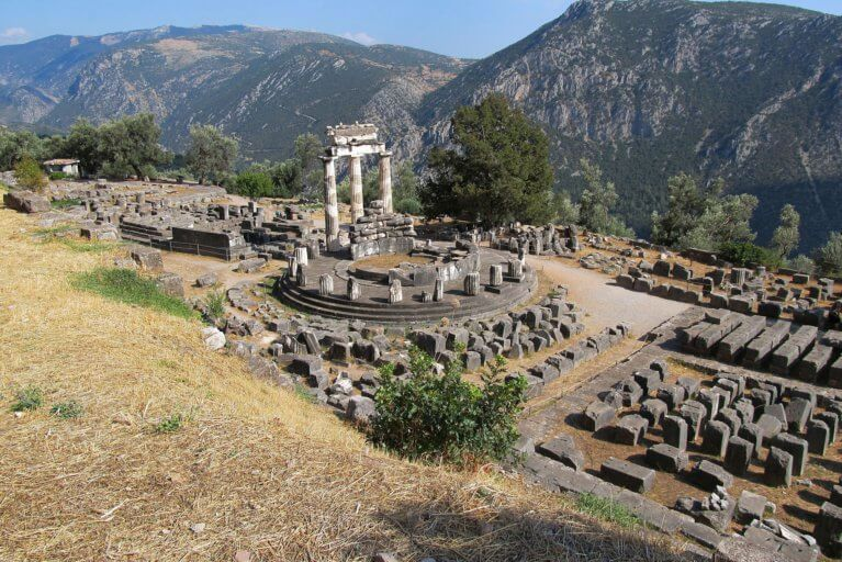 Ancient ruins of Delphi during a private Greece trip
