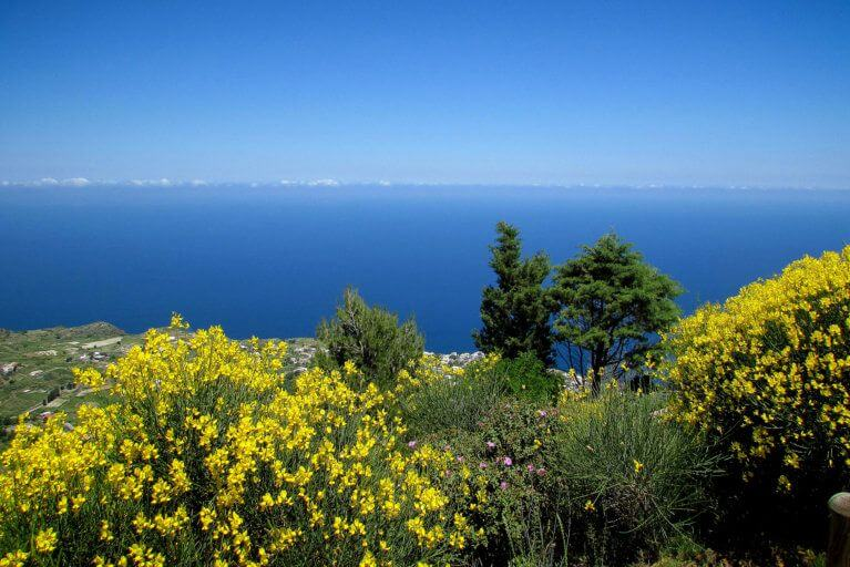 Sea views while hiking in Aeolian Islands during luxury Sicily tour