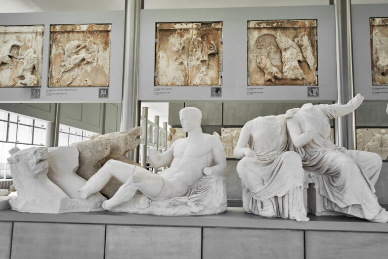 Inside the Acropolis Museum during luxury Greece trip