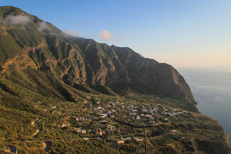 Pollara village on Salina Island