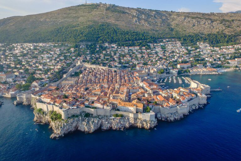 Aerial view of Dubrovnik during luxury Adriatic tour