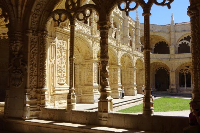 Cloisters at Jeronimos Monastery in Belem during a luxury Portugal trip