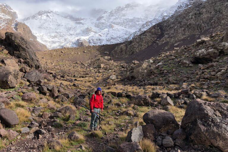 Hiking in the Toubkal National Park during a private Morocco tour