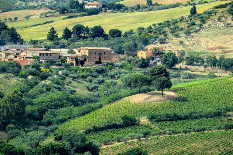 Regaleali Estate in the countryside in Sicily
