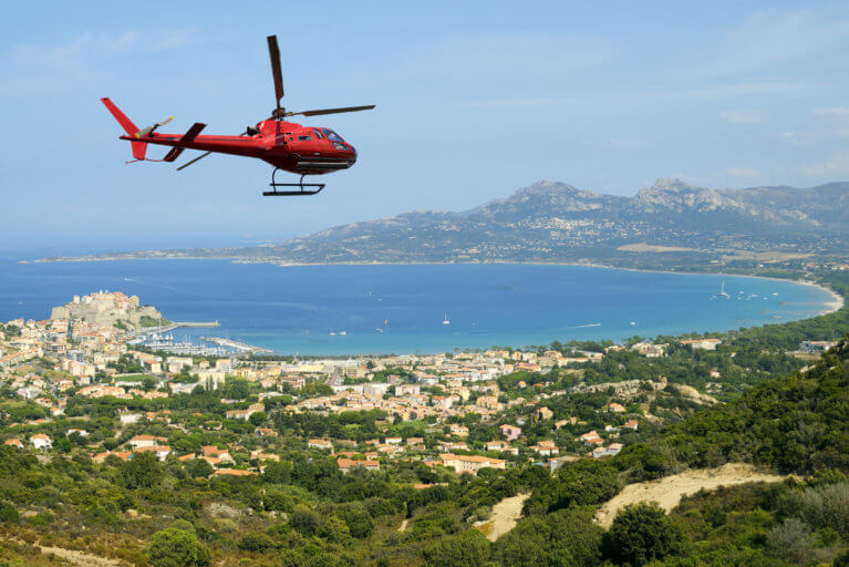 Private helicopter ride over Corsica during luxury Corsica tour