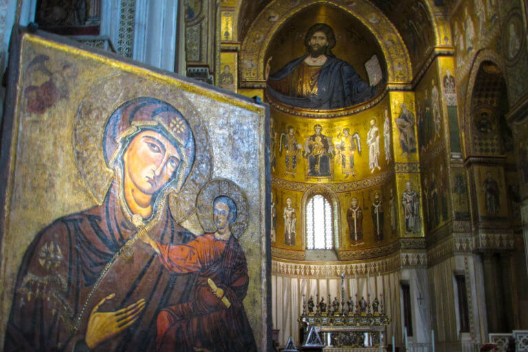 Interior of Palatine Chapel in Palermo during luxury Sicily tour