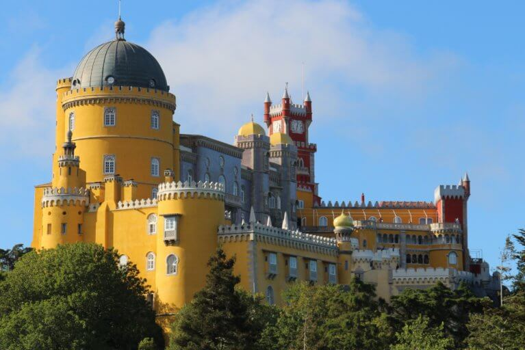 View of Sintra Palace on a sunny day during a private Portugal trip