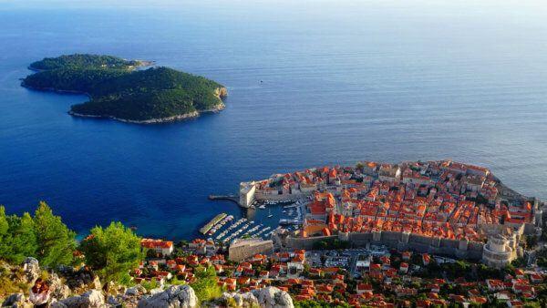 aerial view of dubrovnik during luxury croatia tour