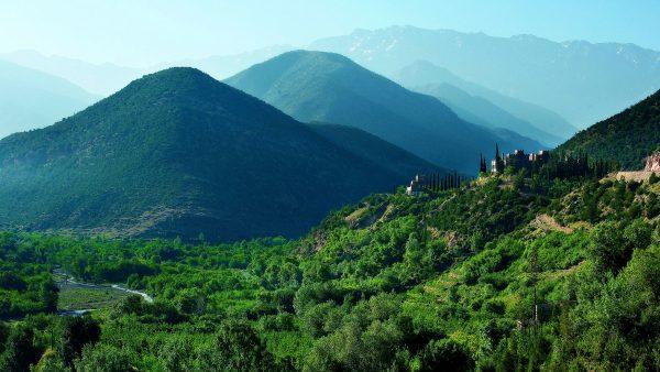 green Atlas mountains during luxury morocco trip
