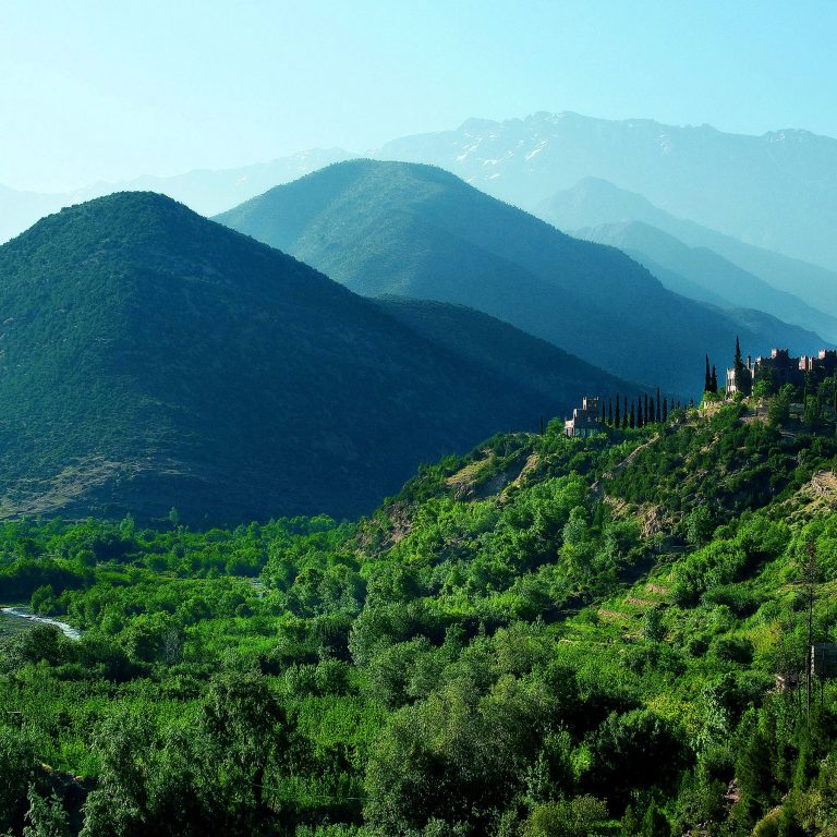 green Atlas mountains during luxury morocco trip