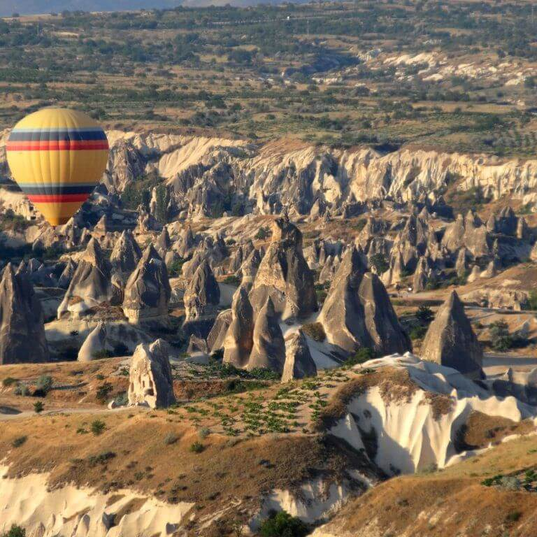 Hot air ballons in cappadocia during luxury turkey tour