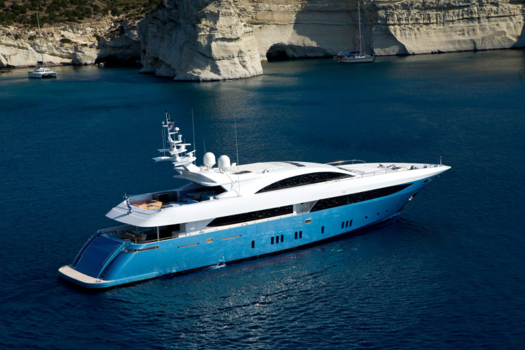 Luxury yacht in Greece during private Greece tour