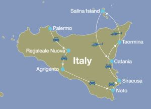 Islands Of Italy Map.Sicily Luxury Tour Luxury Travel Italy Blue Parallel