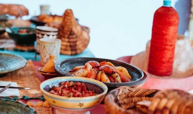 Traditional tagine during luxury Morocco tour